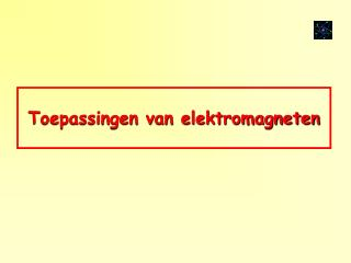 Toepassingen van elektromagneten