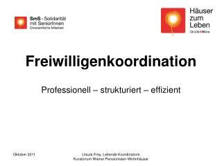 Freiwilligenkoordination Professionell – strukturiert – effizient