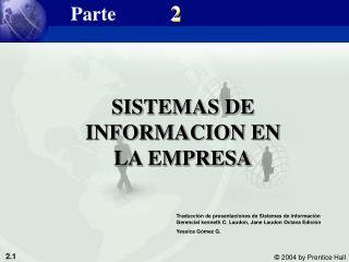 SISTEMAS DE INFORMACION EN LA EMPRESA
