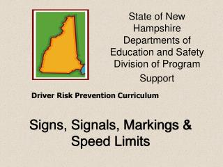 Signs, Signals, Markings & Speed Limits