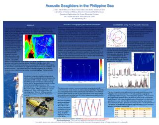 Acoustic Seagliders in the Philippine Sea