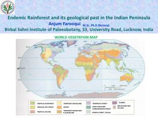 Endemic Rainforest and its geological past in the Indian Peninsula