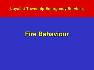 Loyalist Township Emergency Services