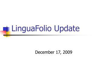LinguaFolio Update