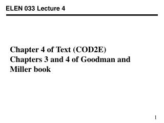 ELEN 033 Lecture 4