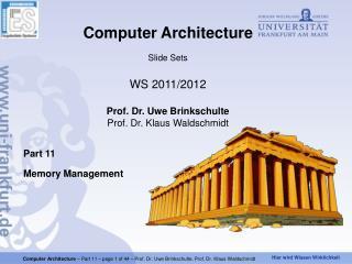 Part 11 Memory Management
