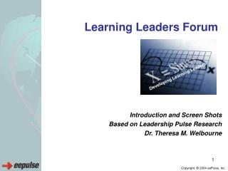 Learning Leaders Forum