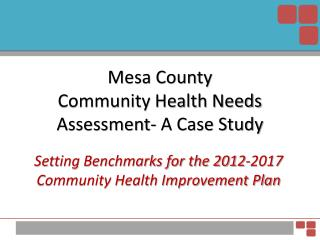 Mesa County  Community Health Needs Assessment- A Case Study