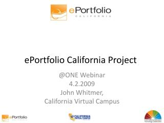 EPortfolio California Project