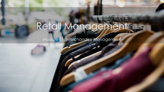 MERCHANDISE PLANNING  MANAGEMENT