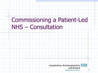 Commissioning a Patient-Led NHS – Consultation