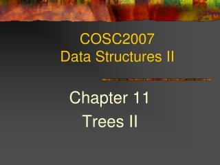 COSC2007  Data Structures II