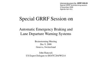 Special GRRF Session on