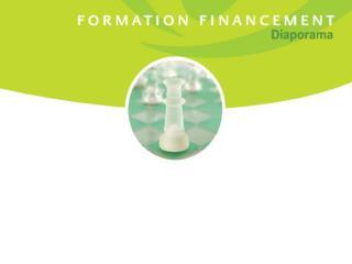 Plan de la formation financement