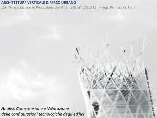 ARCHITETTURA VERTICALE & PARCO URBANO
