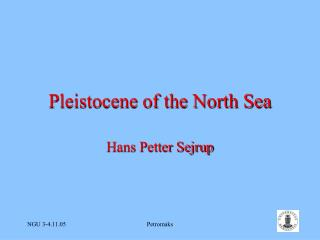 Pleistocene of the North Sea