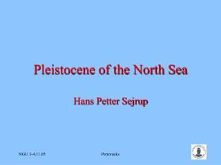 Pleistocene of the North Sea