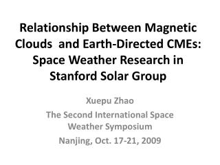 Relationship Between Magnetic Clouds  and Earth-Directed CMEs: Space Weather Research in Stanford Solar Group