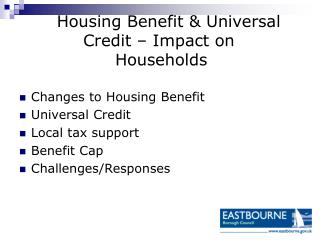 Housing Benefit & Universal 		Credit – Impact on      				Households