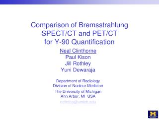 Comparison of Bremsstrahlung SPECT/CT and PET/CT  for Y-90 Quantification