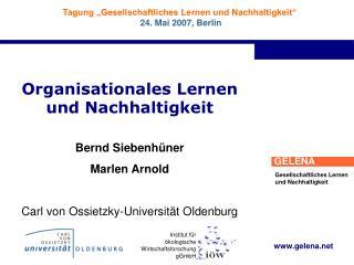 Organisationales Lernen und Nachhaltigkeit