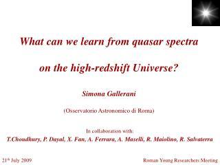 Simona Gallerani (Osservatorio Astronomico di Roma)