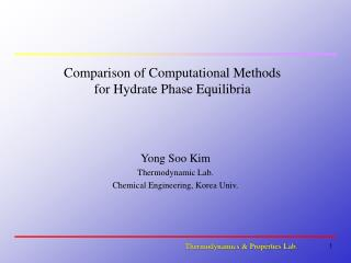 Comparison of Computational Methods for Hydrate Phase Equilibria