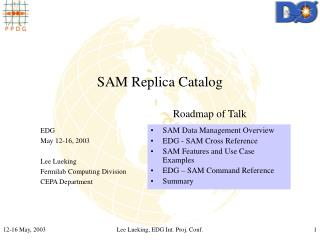 SAM Replica Catalog