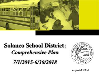 Solanco School District:   Comprehensive Plan  7/1/2015-6/30/2018