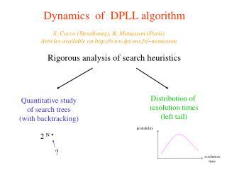 Dynamics  of  DPLL algorithm