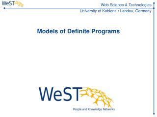 Models of Definite Programs