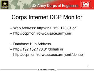 Corps Internet DCP Monitor