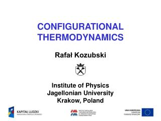 CONFIGURATIONAL THERMODYNAMICS