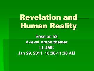 Revelation and Human Reality