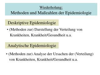 Wiederholung: Methoden und Maßzahlen der Epidemiologie