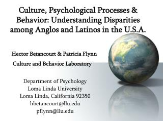 Department of Psychology Loma Linda University  Loma Linda, California 92350 hbetancourt@llu