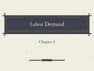 Labor Demand