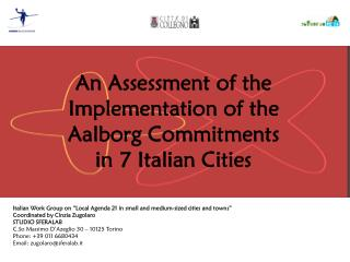 "Italian Work Group on ""Local Agenda 21 in small and medium-sized cities and towns"""