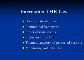 International HR Law