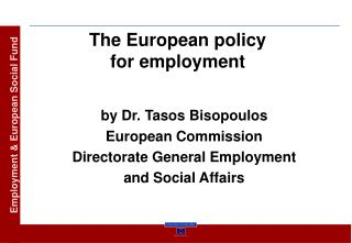 The European policy for employment