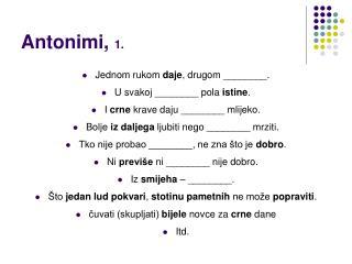 Antonimi,  1.