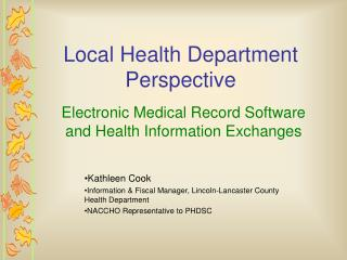 Local Health Department Perspective