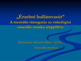 """""""Érzelmi hullámvasút"""" A mentális támogatás az onkológiai szociális munka alappillére"""