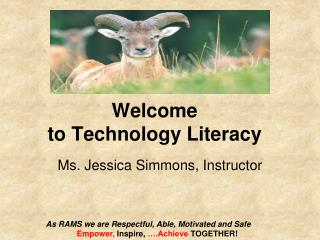 Welcome  to Technology Literacy