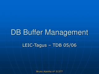 DB Buffer Management