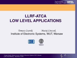LLRF-ATCA  LOW LEVEL APPLICATIONS