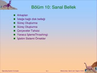B�l�m 10: Sanal Bellek