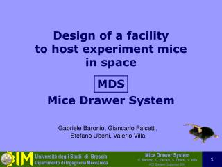 Design of a facility to host experiment mice in space