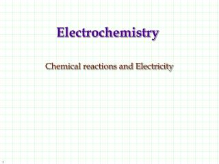 Electrochemistry Chemical reactions and Electricity