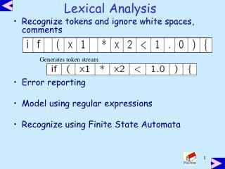 Lexical Analysis